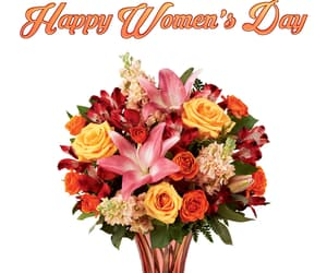 bouquet, flowers, and happy women's day image