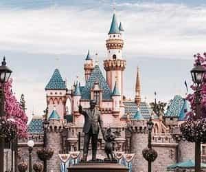 castle, disney, and magic image