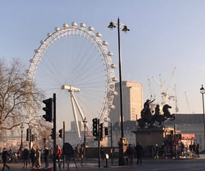 in love, london, and london eye image