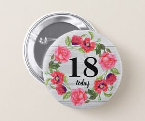 badge, floral wreath, and rustic design image