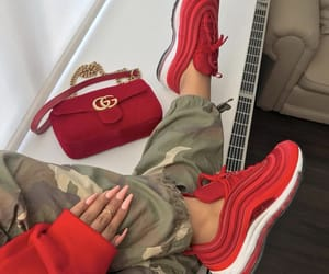 gucci, nike, and red image