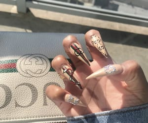 gucci, nails, and woow image