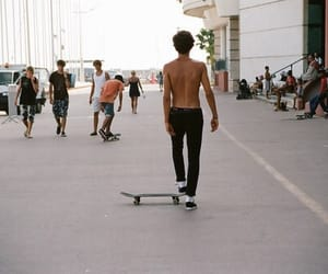 boy, skate, and Hot image