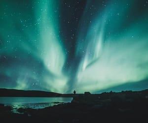 aurora, lights, and sky image