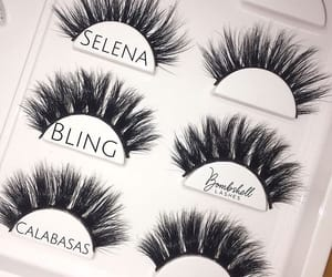 beauty, bling, and false lashes image