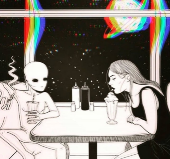 aesthetic, grunge, and aliens image