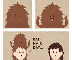 bad hair, bad hair day, and comic image