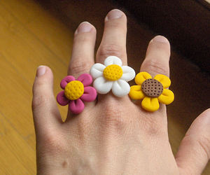 clay, fimo, and flower image
