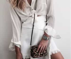 white, beautiful, and clothes image