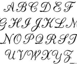 alphabet, calligraphy, and diy image