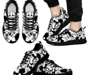 black, mickey mouse, and tenis image