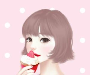 background, design, and lovely girl image