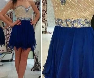 party dress, short dress, and graduation dress image