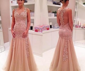 dress, prom dress, and moda image