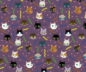 cats, patterns, and wallpapers image