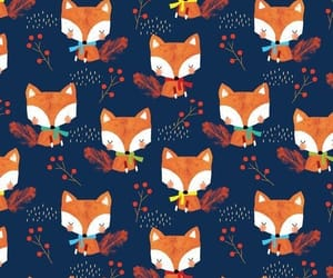 patterns, foxes, and cute image