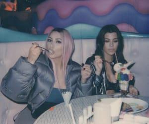 kim kardashian, kourtney kardashian, and kim image