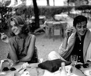 Alain Delon, couple, and jane fonda image