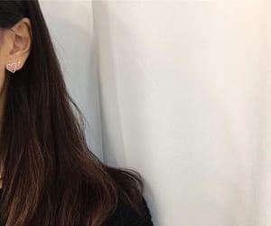 earrings, girl, and jewelry image