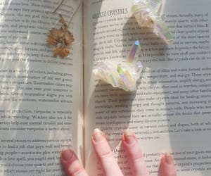 aesthetics, books, and crystals image