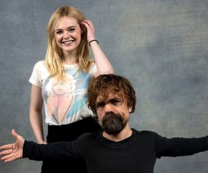 Elle Fanning and peter dinklage image