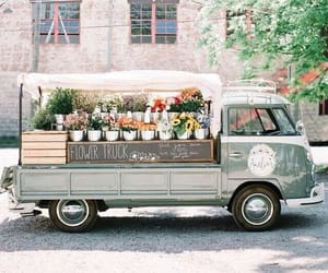 flowers, truck, and aesthetic image