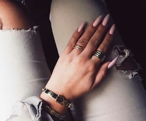 rose gold, fashion girly, and nails goals image