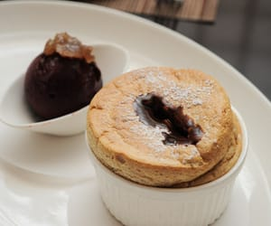 dessert, soufflé, and food image