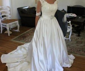 bridal dress and satin wedding dress image