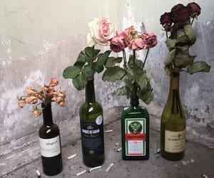 flowers, aesthetic, and bottle image