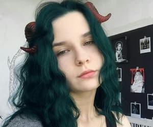 cosplay, dark hair, and faun image