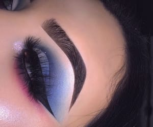 beauty, blue, and eye shadow image