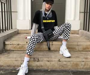 checkerboard, clothes, and style image