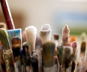 Brushes, paint, and art image