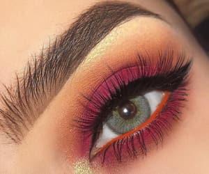 makeup, girl, and eyeshadow image