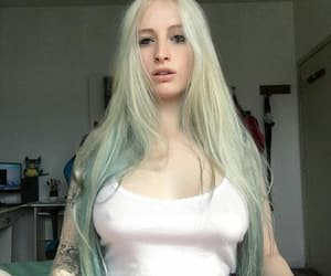 alt girl, blonde, and green image