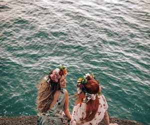 besties, flowers, and friendship image