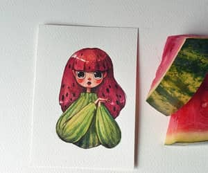 cool, fruit, and watermelon image