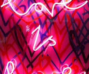lights, neon, and love image