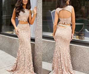 lace dress and prom dress image
