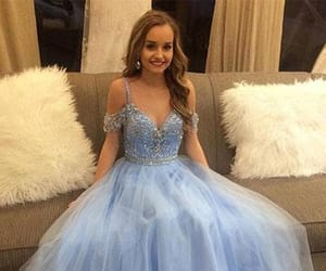 Prom, blue prom dress, and prom 2k18 image