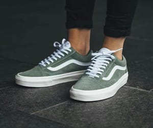 shoes, vans, and green image