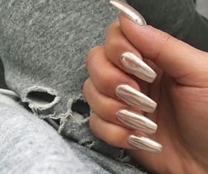 gold, nails, and silver image