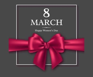 march 8, women, and happy women's day image