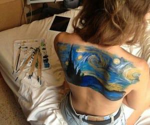 art, van gogh, and back image