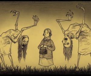 creepy and lady image
