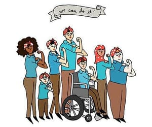 empowerment, feminism, and we can do it image