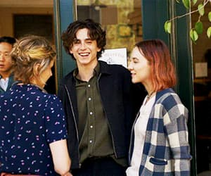 gif, lady bird, and timothee chalamet image