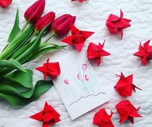 handmade, kwiat, and kartka image