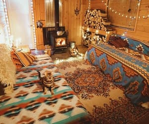 cat, cosy, and hippie image